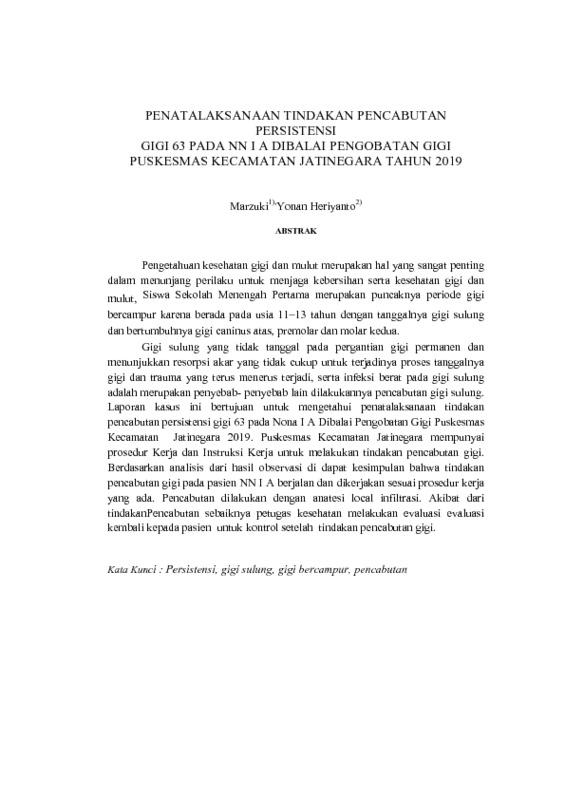 abstrak PENATALAKSANAAN TINDAKAN PENCABUTAN PERSISTENSI.pdf