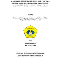 Pengaruh Pelatihan Higiene Perorangan Terhadap Perubahan Pengetahuan dan Perilaku Tenaga Penjamah Makanan Pada Penyelenggaraan Makanan Di Yayasan Cahaya Mutiara (Koperasi Mutiara Bunda) Bandung