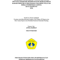 Gambaran Pengetahuan Wanita Pralansia tentang Sindrome Premenopause berdasarkan Karakteristik di Kelurahan Maleber Wilayah Kerja Puskesmas Garuda Kota Bandung 2018