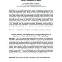 Gambaran Tingkat Stress dan Pengetetahuan Tentang Manajemen Stress Pasien Hipertensi di Poliklinik Jantung Rumah Sakit PMI kota bogor