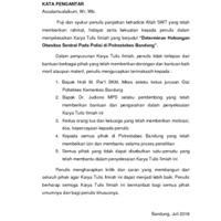 DETERMINAN HUBUNGAN OBESITAS SENTRAL PADA ANGGOTA KEPOLISIAN DI POLRESTABES BANDUNG